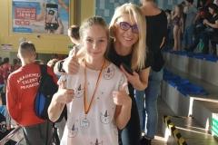 Uczestniczka Igrzysk Miasta Białegostoku w pływaniu dzieci